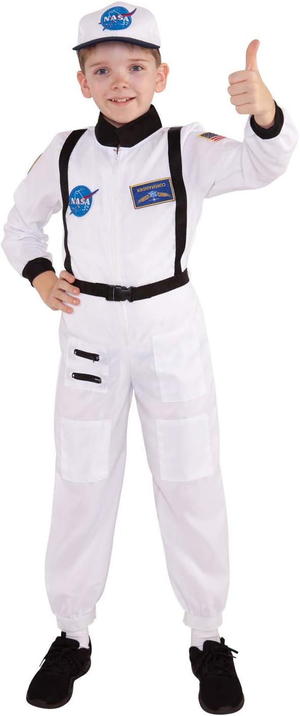 Medium Kids Astronaut Costume Childs Spaceman Uniform Space Dress Up Age 7-9