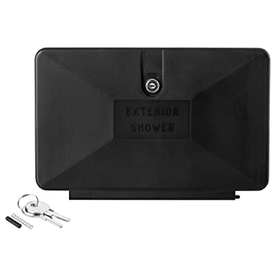 Dura Faucet DF-SA170D-BK RV Locking Replacement Door for an Exterior Shower Box Kit (Black): Automotive