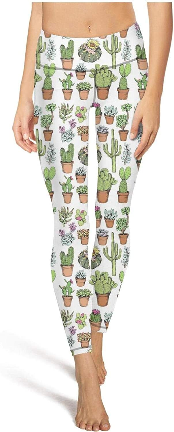 Pretty Women Yoga Pants Cute Cactus Custom Elastic Leggings Outfit Yoga Workout Bra