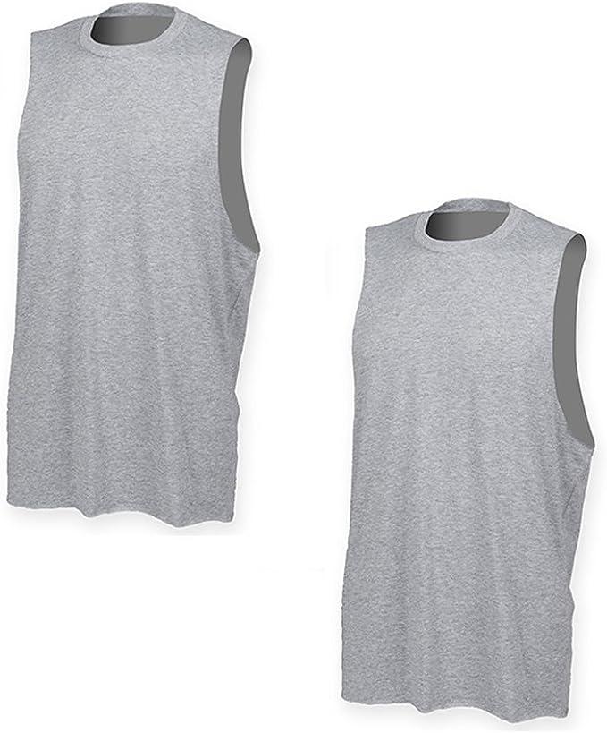 Conjunto de 2 Camisetas de Tirantes Ajustadas para Hombres con un Corte Estrecho y Tirantes Anchos: Amazon.es: Ropa y accesorios