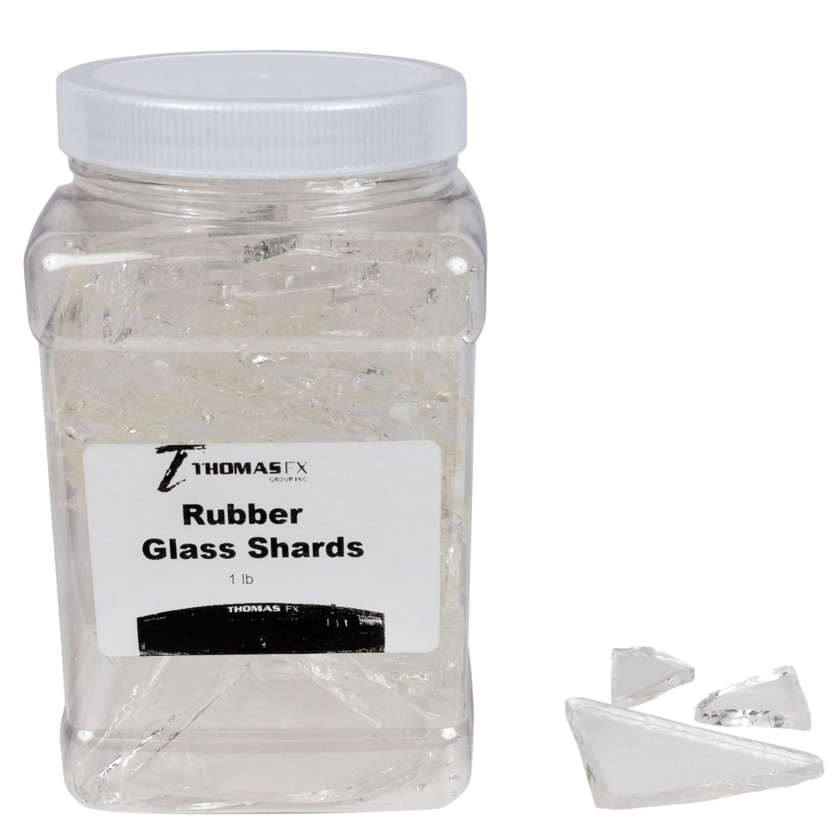Rubber Tempered Glass Shards, Professional Quality Fake Glass, or Movie Glass Random Pieces - 1 lb.