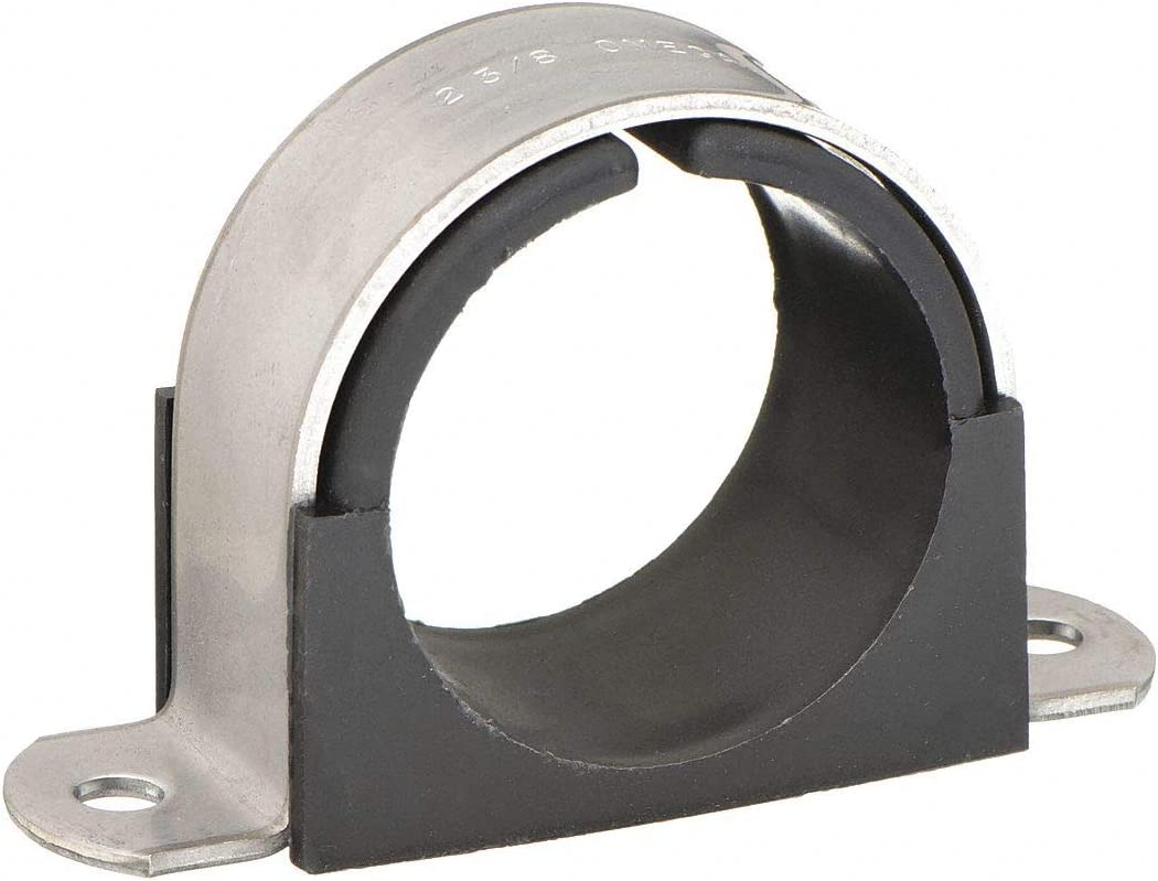 """Pack Of 10 Series Steel Loop Hose Clamp Rubber Cushioned 2/"""" Clamp ID"""