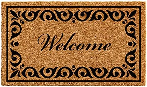Calloway Mills 102243672 Breaux Welcome Doormat, 3 x 6 , Natural Black