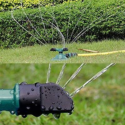 You will think of me El Rociadores de jardín Riego automático Césped Césped Rociador de 360 Grados Rociador Césped Sistema de riego por aspersión de jardín (Color : Green): Amazon.es: Hogar