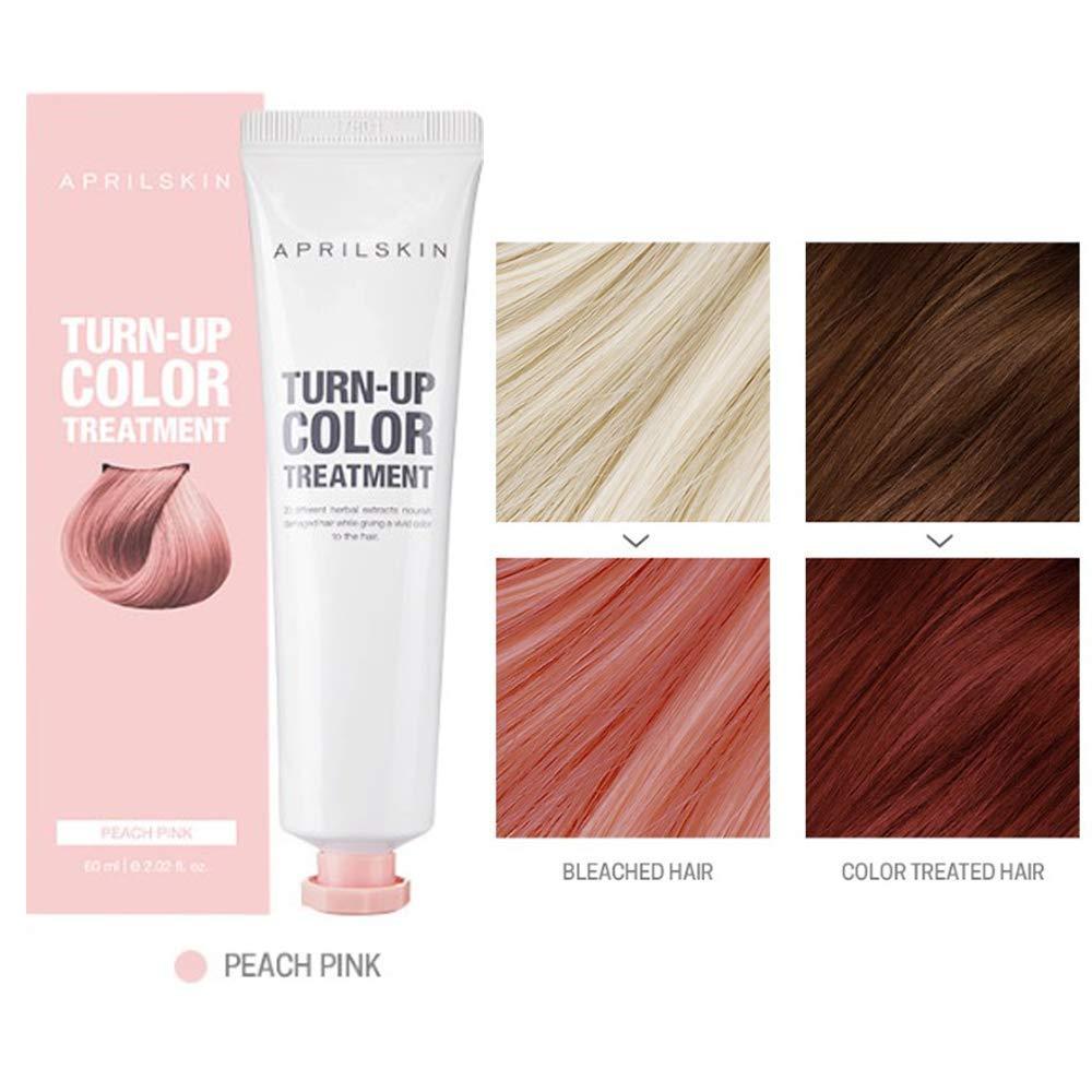 April Skin Turn Up Color Treatment 60ml Self Hair Aprilskin Bleach Peach Pink Beauty