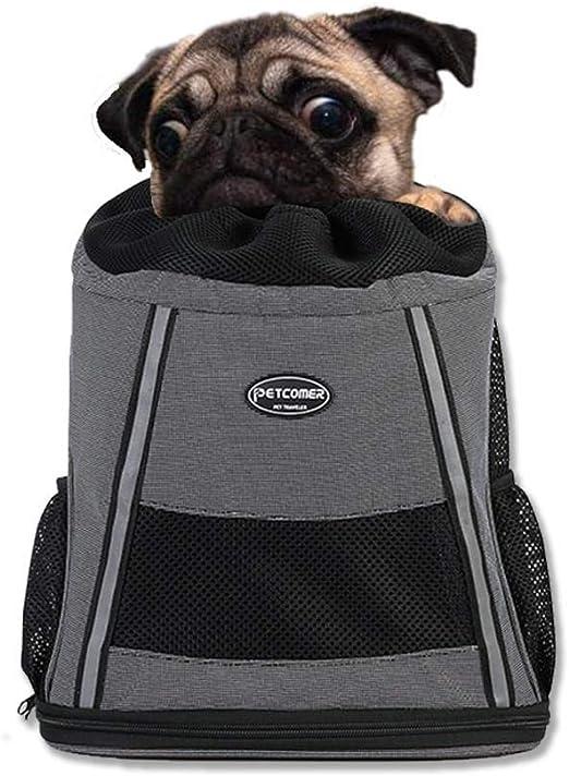 HUZHAO - Mochila portabebés para Perro o Gato, para Bicicleta, Senderismo, Viaje, Bolsa Delantera: Amazon.es: Productos para mascotas