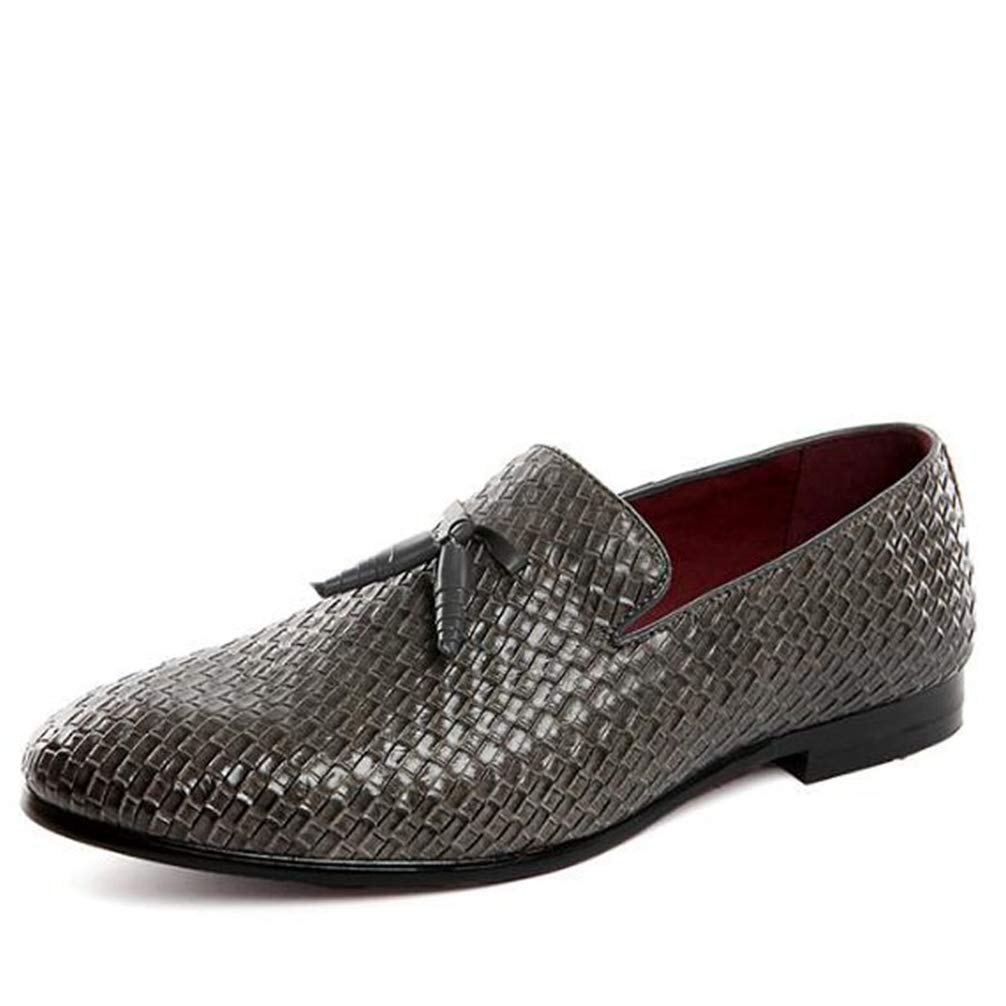 Phil Betty Mens Business Dress Shoes Fashion Round Toe Slip On Flats Oxford Shoes