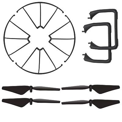 AMZtronics Kit d'Accessoires d'origine Pour A15 Drone ( 4 Pièces Hélices + Train d'atterrissage X 2+ Garde-hélice X 4)