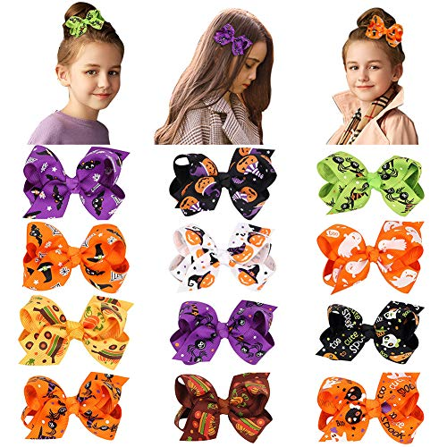 Baby Girls Hair Clips (12 pack) Grosgrain Ribbon Barrette Ribbon Bow Hairpins Hair Styling for ChildrenToddlers Teens Kids Hairpin Headdress Accessories]()