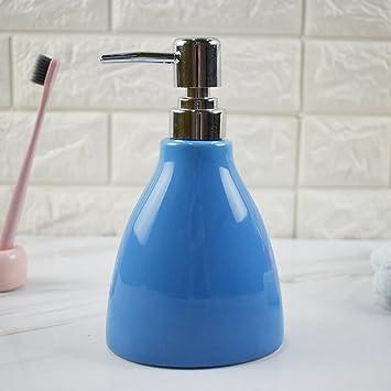 Botella de jabón líquido - Dispensador de jabón - Botella de desinfección de manos de cerámica