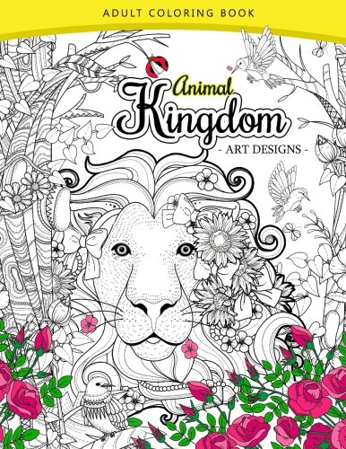Animal Kingdom Adult Coloring Book An Lion