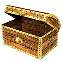 Beistle 50356 Treasure Chest Box, 11-3/4-Inch by 8-Inch