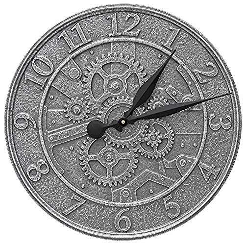 Gear 16-in Indoor Outdoor Wall Clock - 02073 by Whitehall
