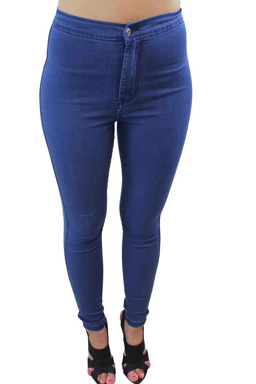 Girl Talk Clothing Indigo Wash High Waisted Skinny Fit Disco Jeans