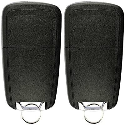 KeylessOption Keyless Entry Car Remote Uncut Flip Key Fob Replacement for OHT01060512 (Pack of 2): Automotive