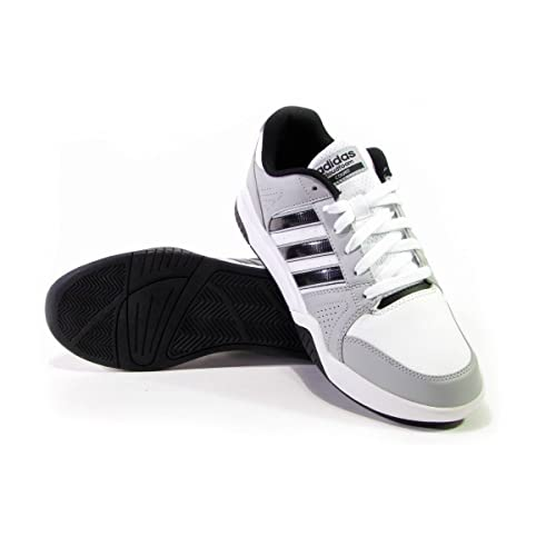 low priced 023f2 349f1 adidas Scarpe Uomo Sneakers Cloudfoam VS Court in Pelle Bianca AW5240