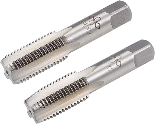 Hand Tap M14 Thread 1.25 Pitch 4 Straight Flutes H2 Alloy Tool Steel 1 Pair