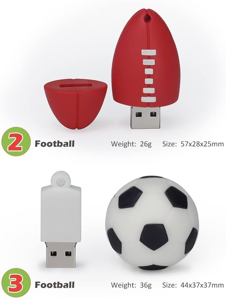 LEIZHAN Memoria USB 8G USB Flash Drive 2.0 Silicona Forma de Bola ...