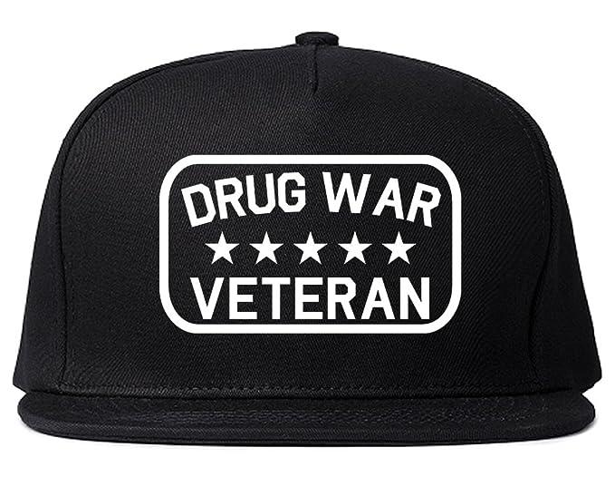 Drug War Veteran Snapback Hat Cap Black at Amazon Men s Clothing store  c8bc56ba5d8