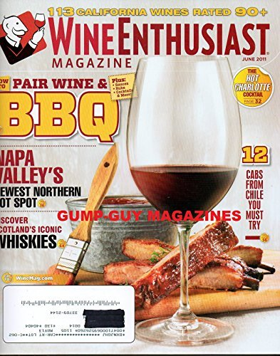 Wine Enthusiast Magazine June 2011 How to Pair Wine & (Bay Cabernet)