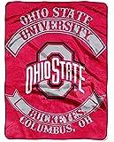 NCAA Ohio State Buckeyes Plush Raschel Blanket/Throw: Officially-Licensed, 60 x 80-Inch