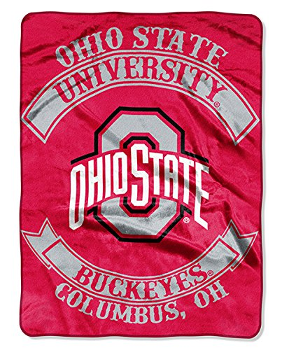 - NCAA Ohio State Buckeyes Plush Raschel Blanket/Throw: Officially-Licensed, 60 x 80-Inch
