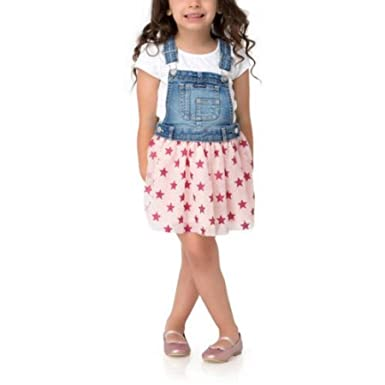 363f047cbc Amazon.com  Jordache Girls Toddler Pink Glitter Star Bib Overall Double  Layer Tulle Skirtall (2T)  Clothing