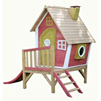 Crooked Tower Wooden Playhouse, Painted Garden Wendy Play House by Garden Games Ltd