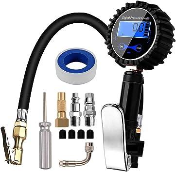SUV Manometro Pressione Gomme Manometro Digitale Pressione gomme 200 PSI Alta Precisione con Luce a LED e Schermo LCD per Auto Camion Moto