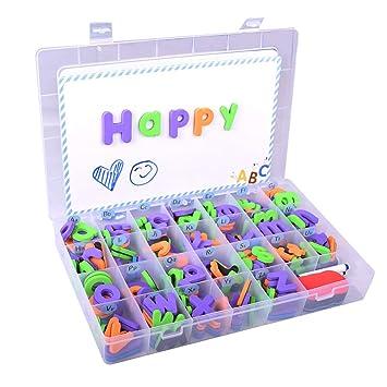 Toyvian 1 Caja Cartas Magnéticas Pegar Esponja Alfanumérica ...