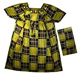 Decoraapparel Womens African Dress Traditional Dashiki Maxi Caftan Cotton Kaftan One Size (Yellow Wine Black P02 Kaftan)