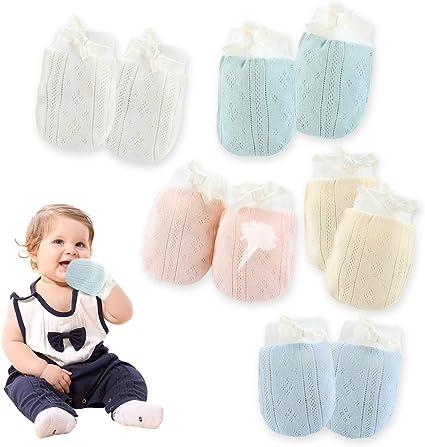 4 pcs Newborn Baby Mittens 2 pairs girl anti scratch pink soft cotton mitts