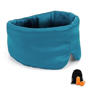 GYSSIEN Silk Eye Mask for Sleeping, Healthy Silk Sleep Mask with Ear Plugs for Sleep