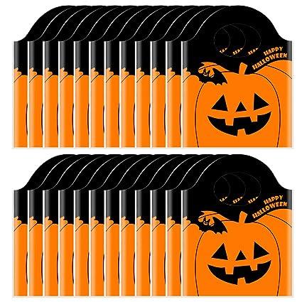 Amazon.com: TAJIAA 50 bolsas de Halloween con diseño de ...