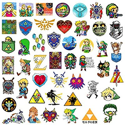 Qweryboo The Legend of Zelda Waterproof Stickers, Vinyl Stickers Decal for Skateboard Pad MacBook Laptop Luggage Bike( 47 PCS): Toys & Games