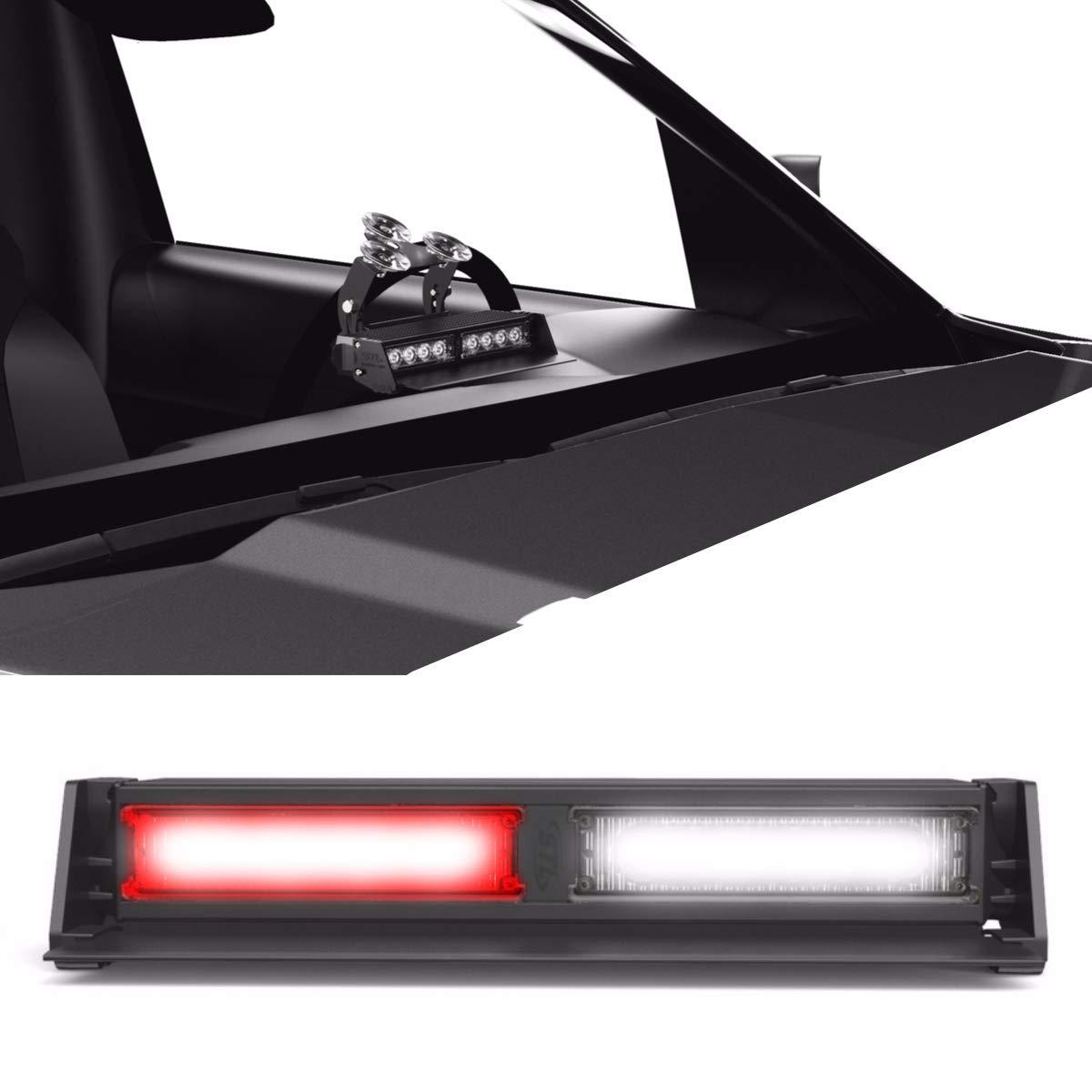 Striker TIR 2 Head LED Dash Light for Emergency Vehicles//Warning Strobe Deck//Dash Light Windshield Mount Amber//Clear