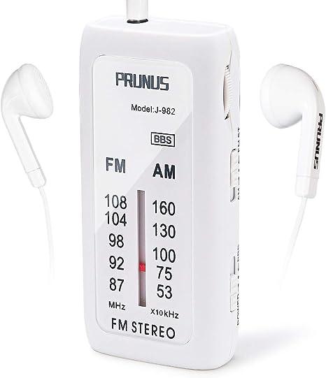 Miniradio de Bolsillo portátil PRUNUS J-982. Modo FM/Am, con BBS y Modo Stereo (Incluye Auriculares Gratis). Funciona con Pilas alcalinas (AAA): Amazon.es: Electrónica