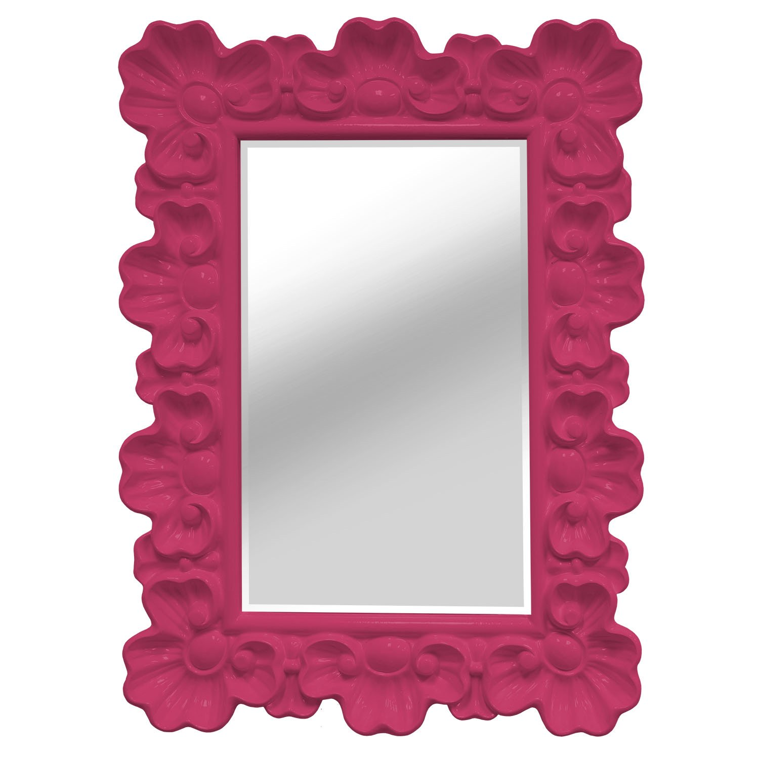 Lomitas Bright Pink Ornate Accent Wall Mirror
