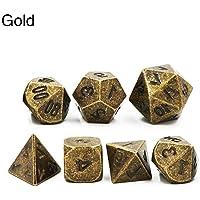 Awhao 7pcs Dungeons & Dragons Creative RPG Game Dice D&D DND Different Color D4 D6 D8 D10 D12 D20