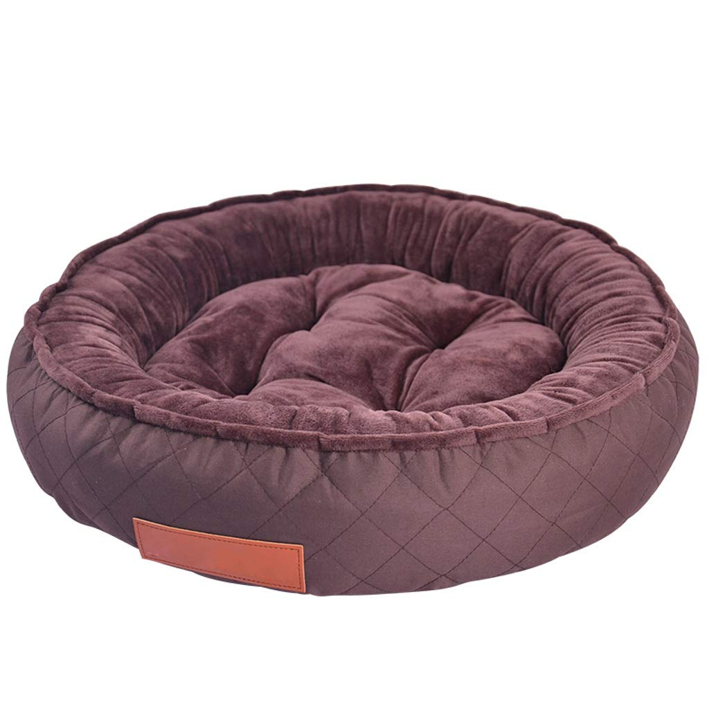 Brown Large Kennel, Medium Small Sized Dog Pet Nest Cat Mat Bed Four Seasons Removable and Washable Indoor Four Sizes Optional (color   Green, Size   S)