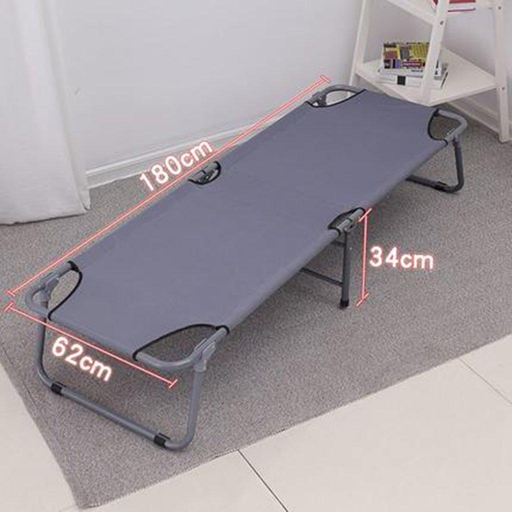 Büro Klappbett Einzelbett Siesta Siesta Bett einfaches Tuch Bett Camping Bett begleitenden Bett 180  62  34 cm ( Farbe : grau )