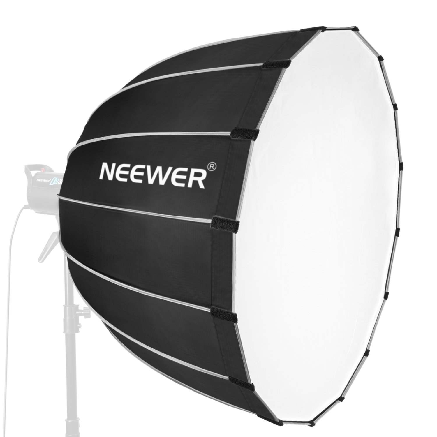 Neewer Hexadecagon Softbox 36 inches/90 Centimeters with Blue Rim and Bowens Mount, Portable and Quick Folding Softbox Diffuser for Photography Speedlites Flash Monolight and More 10090558
