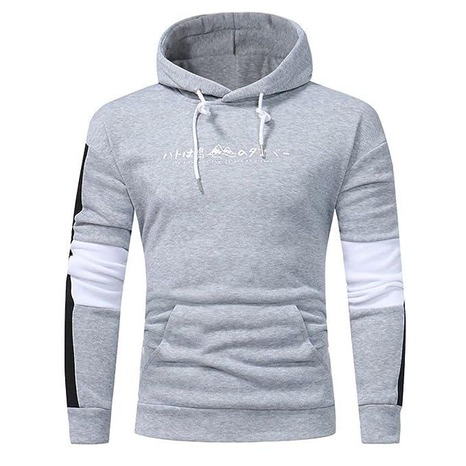 a28f37048413 VECDY Herren Bluse,Herbst und Winter Tops Hoodie Hooded Sweatshirt ...