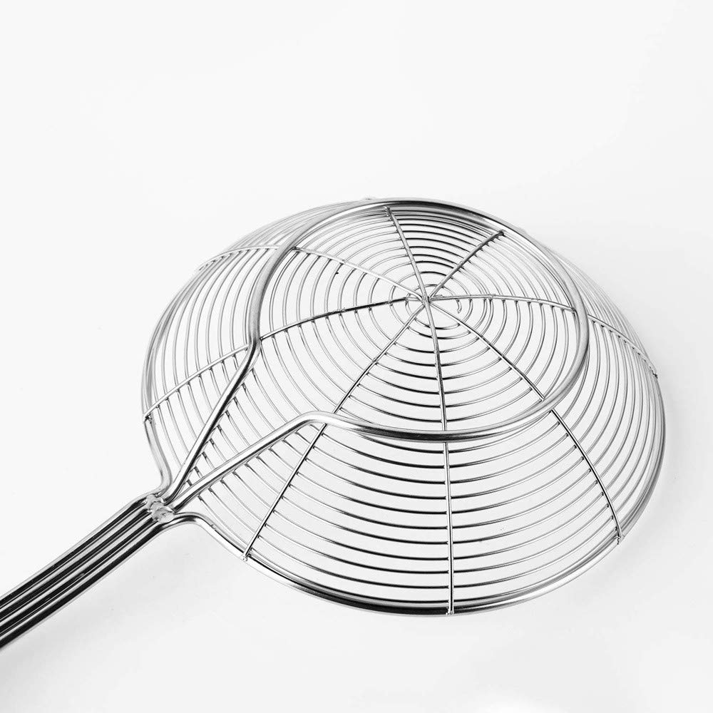 Tpingfe Stainless Steel Solid Spider Strainer Skimmer Ladle with Handle Kitchen Tool