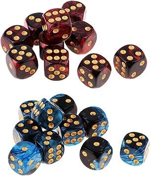 D6 Dados de 20 Pedazos para Juego de Mesa Juegos de Beber para Fiesta Party: Amazon.es: Juguetes y juegos