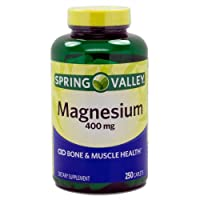 ONLY 1 IN PACK Spring Valley Magnesium 400 Mg, 250 Tablets
