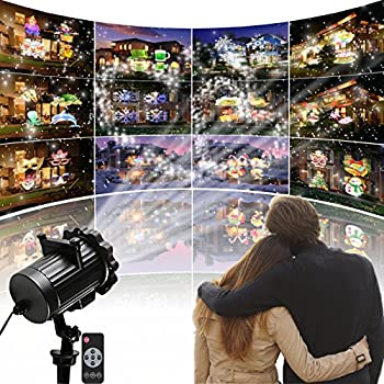Led Lights Projector Christmas Lights Projector Indoor Outdoor Lights  Projector With 16 Slides Dynamic Lighting Landscape