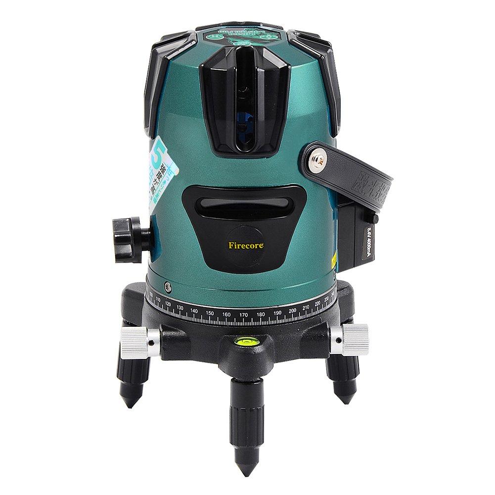 Firecore 5ライン レーザー墨出し器 FG5-LD 三脚・5線6点 回転レーザー線 屋外モード