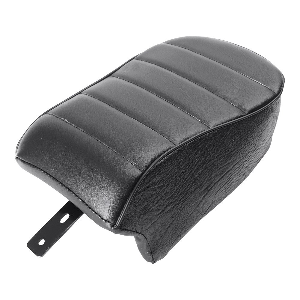 GZYF Leather Rear Passenger Pillion Seat Compatible with Harley Sportster Iron 883 XL883N 2016 2017 2018 2019, Black