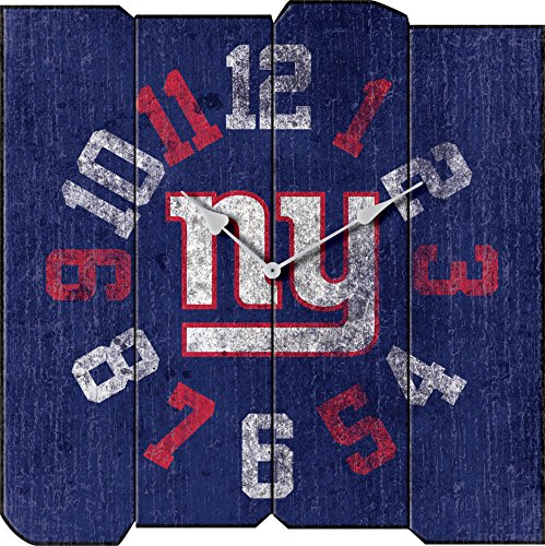 Imperial Officially Licensed NFL Merchandise: Vintage Square Clock, New York Giants